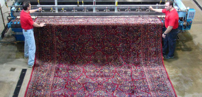 Carpet washing in carpet washing