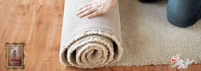 تا کردن غیراصولی فرش چه آسیبی به فرش می رساند